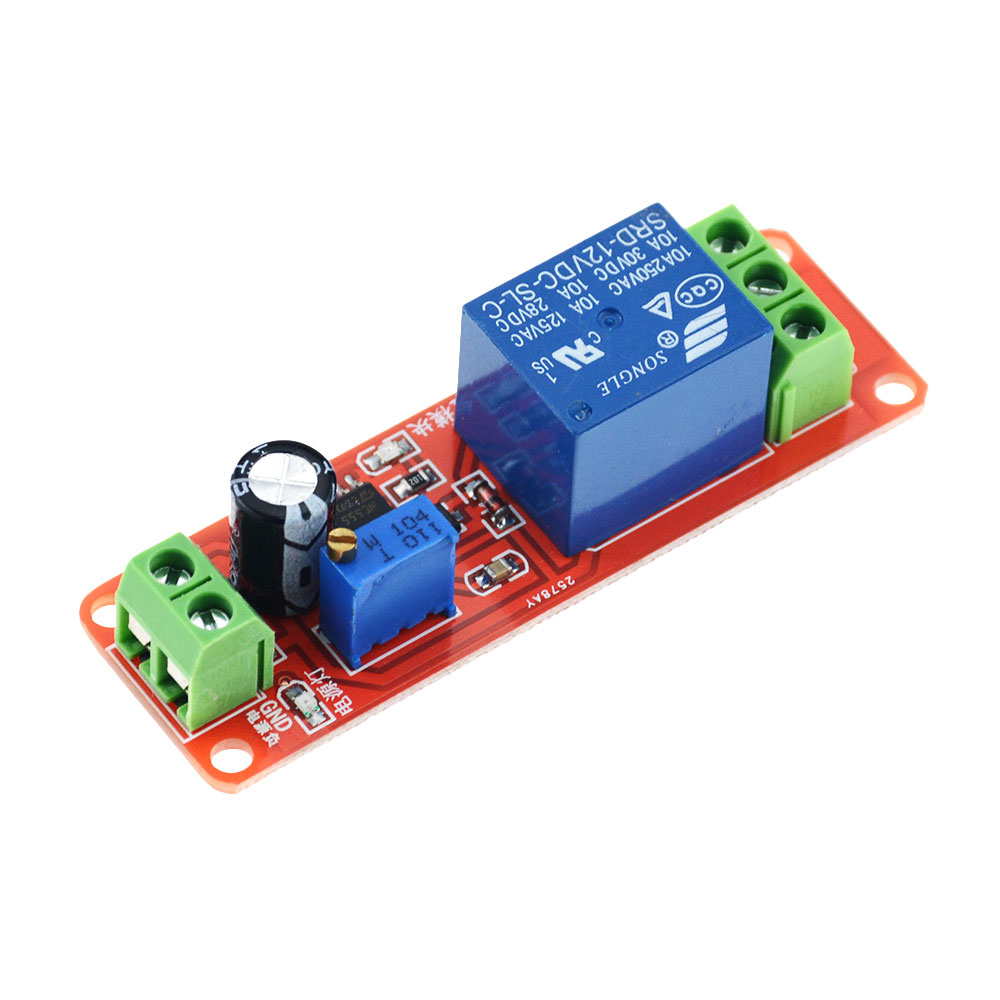 1PCS DC 12V Timer Switch Adjustable Module Time delay relay Module Delay Relay shield 0-10S