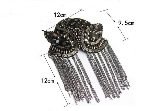 Image 5 - 2 pièces classique fait à la main en métal gland épaulette bijoux gland grande épaule broche épaulettes pointes Blazer accessoiresBroches   -
