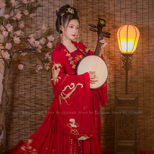 Chinese Traditional Women Hanfu Red Wedding Dress Tang Suit Ancient Long Robe Lady Kimono Tops Skirt Fairy Party Cosplay Costume(China)