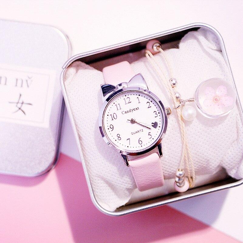 Cute Women Watches Fashion Leather Strap Lovely Ladies Wrist Watch For Girls Heart Shape Dial Cheap Fine Clock Relogio Feminino