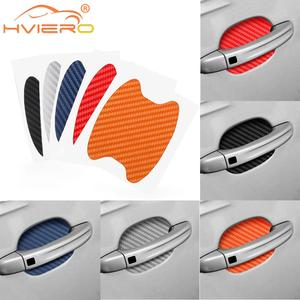 4X Car Door Sticker Carbon Fiber Scratches Resistant Cover Auto Handle Protection Film Exterior Styling Accessories Car-styling