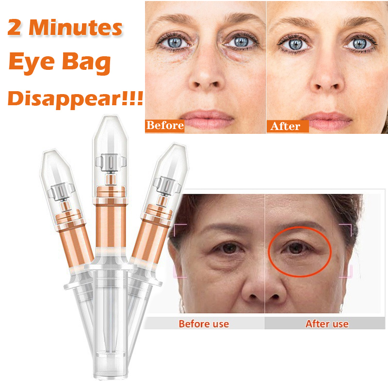 2 Minutes Instantly Eye Bag Removal Cream Lasting Effect Puffiness Wrinkles Fine Lines Black Circles Around Remove Eyes Serum