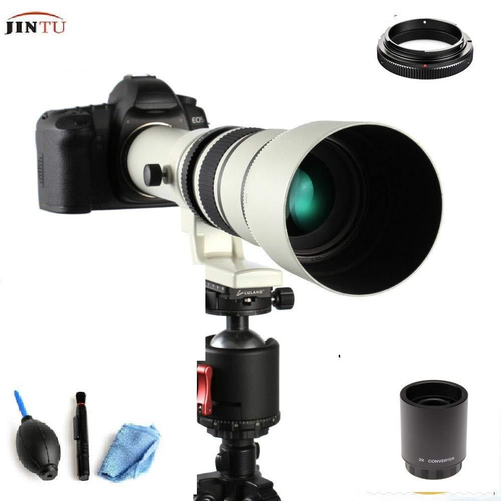 Зеркальный объектив JINTU 500 мм/1000 мм f8.0 для цифровых зеркальных камер Canon EF EOS