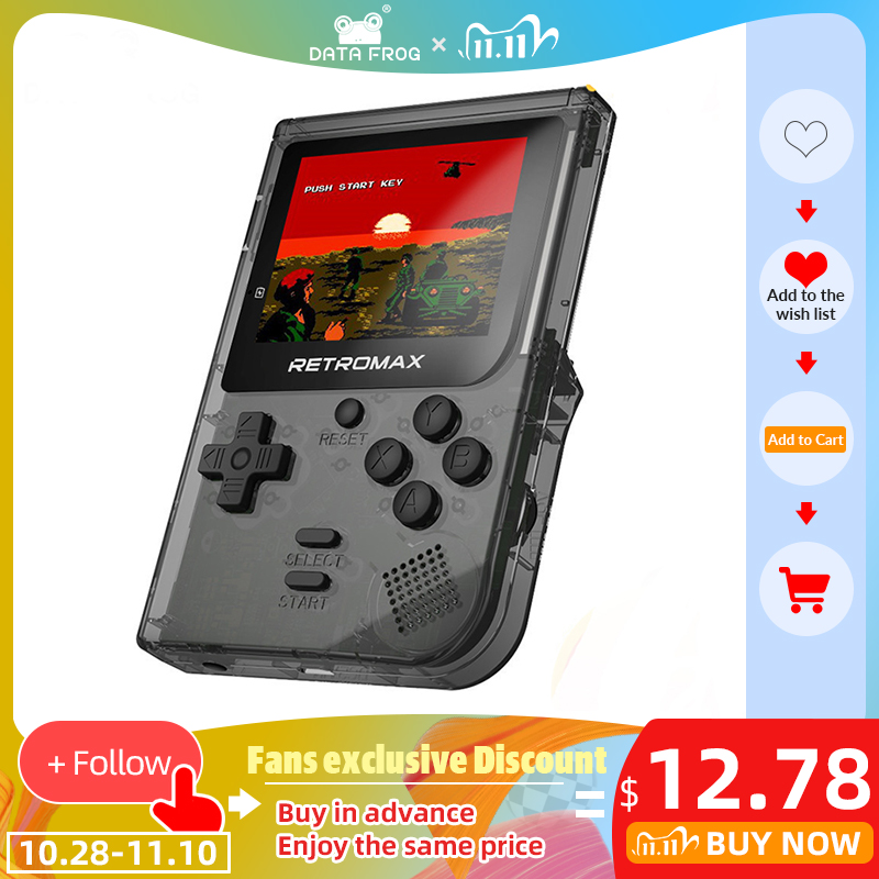 DATA FROG Retromax Mini Handheld Game Console Built In 181 Games 8 Bit 3 0 Inch Portable Handheld Game Gift For Kid