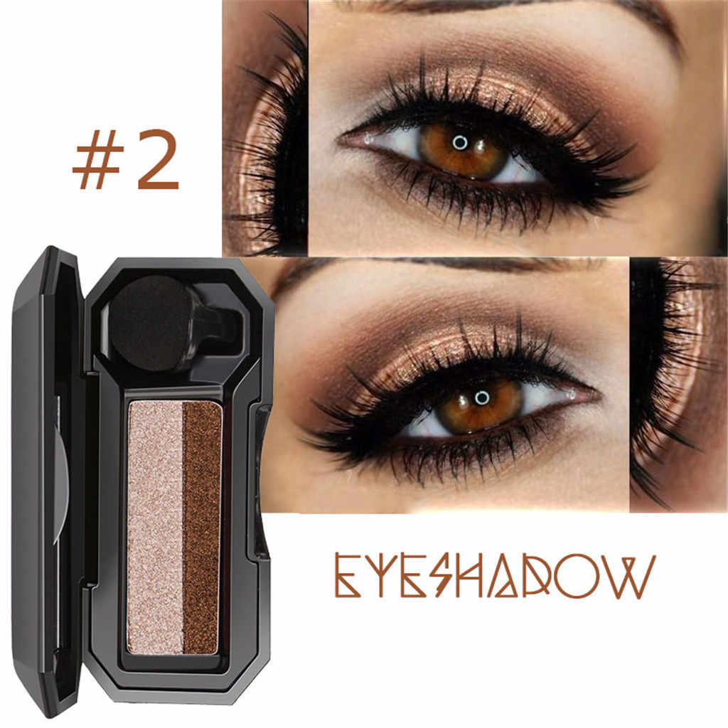 Shimmer Twocolor Stamp Lazy Eyeshadow Palette Makeup Powder Flexibility Lasting Eye Shadow Palette Waterproof Cosmetics Eyeshado