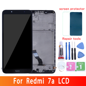Original for Xiaomi Redmi 7A LCD display touch screen digitizer Assembly + frame for redmi 7a display replacement repair parts