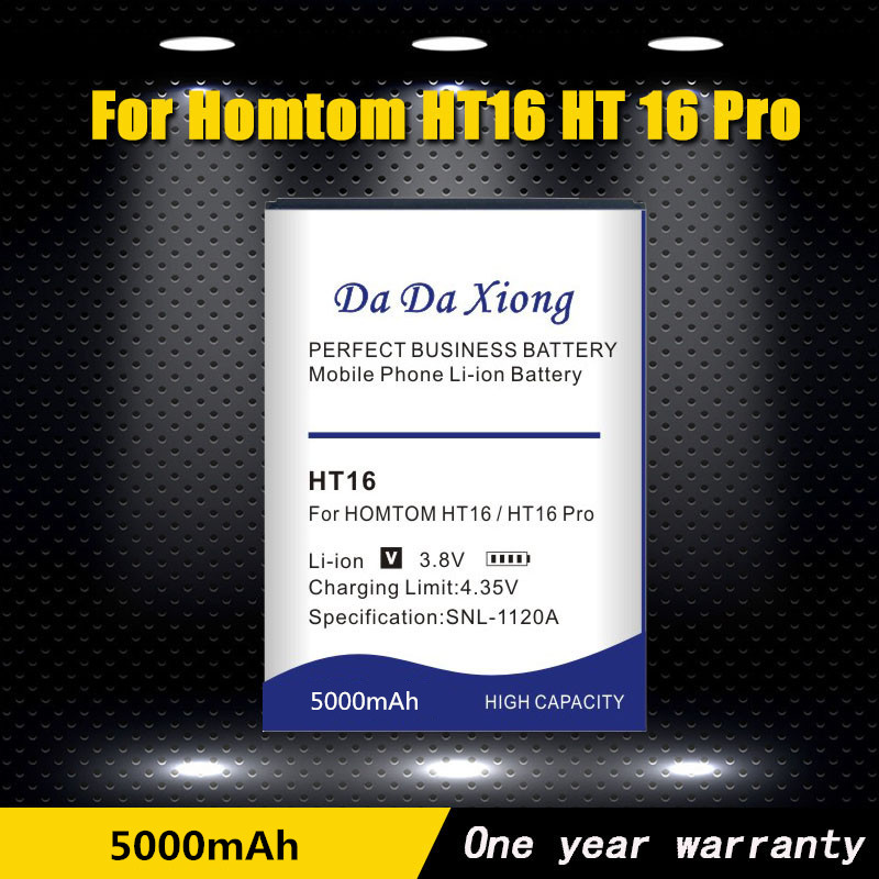 HT16 5000mAh Newly Production Battery For <font><b>Homtom</b></font> HT16 HT <font><b>16</b></font> <font><b>Pro</b></font> Phone High quality Battery Replacement+Tracking Number image
