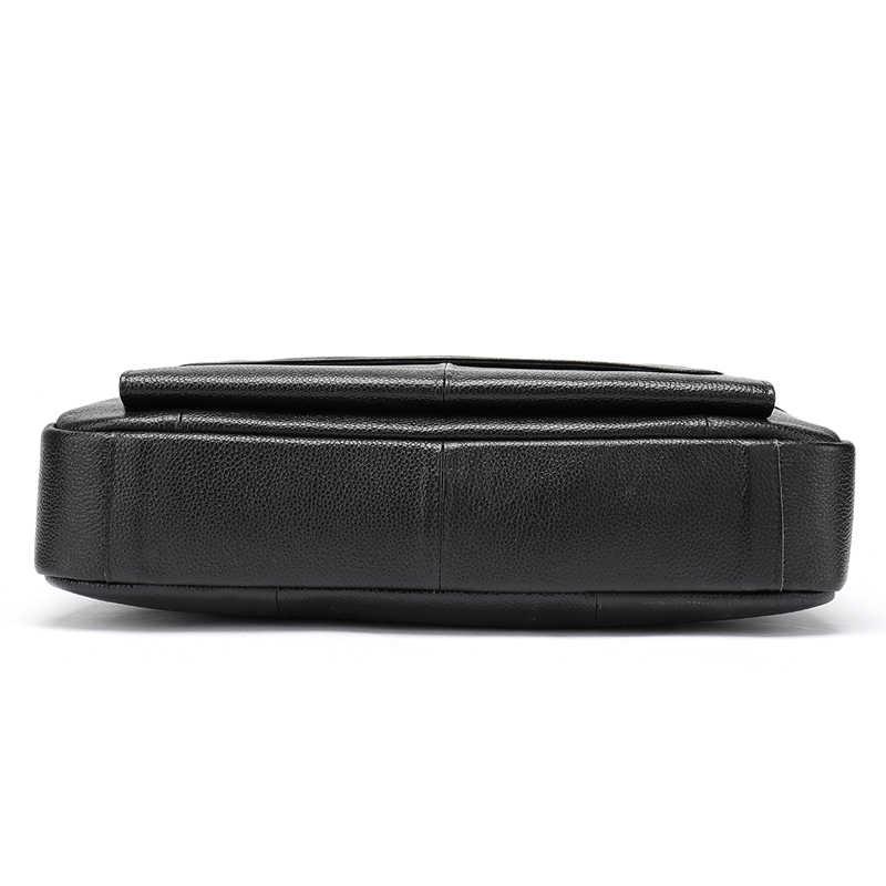 MVA мужской портфель из мягкой кожи Новое поступление мужская сумка на плечо женский портфель 100% натуральная кожа мужская повседневная сумка