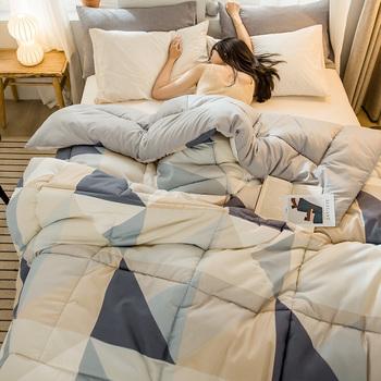 Wysokiej jakości zagęścić zima pocieszyciel gorąca sprzedaży bardzo grube łóżko kołdra tanie i wygodne Ab boczne Patchwork pocieszyciel tanie i dobre opinie CN (pochodzenie) GDDRH