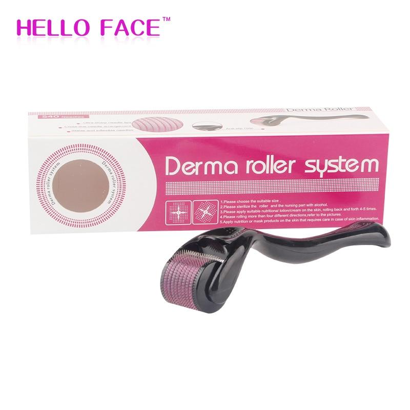 DRS 540 Derma Roller 0.2 0.25mm Needles Mesoroller For Skin Care Hair-loss Treatment Pen
