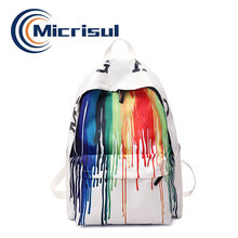 School backpacks girls/boys designer bags 2020 trendy new arrival Painted nylon hotsale book bags women back pack(China)