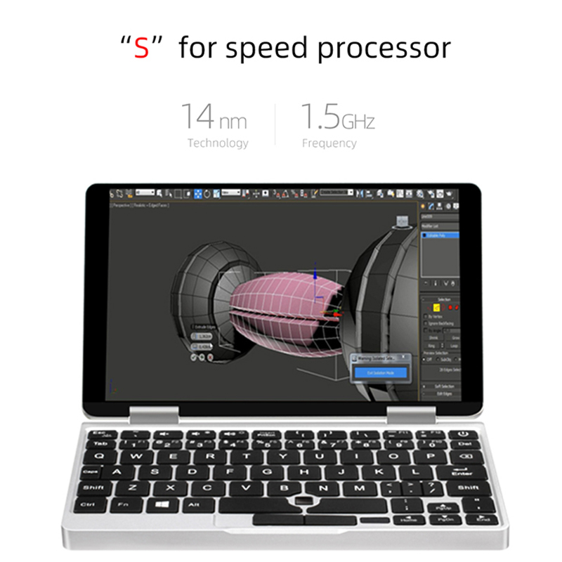 One Netbook One Mix 1S Notebook Intel Core 3965Y 7 inch Yoga Pocket Laptop  8GB 128GB Silver Windows10 gaming laptops Notebook