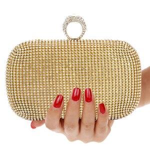 Image 2 - Вечерняя Сумка клатч, сумочка с бриллиантами, вечерняя сумка с цепочкой, сумка на плечо, женские сумки, кошельки, вечерняя сумка для свадьбы