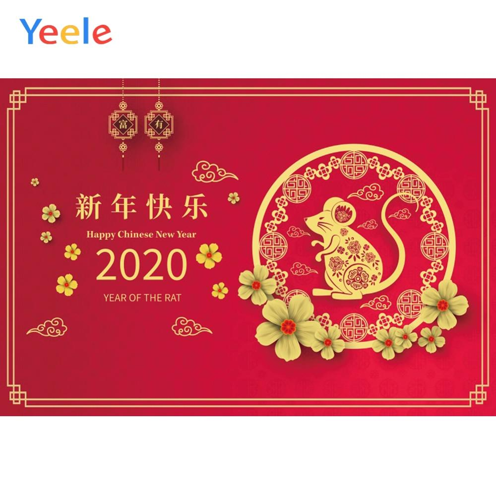 Yeele China Spring Festival Mouse New Year 2020th Party Decoration Photographic Background Photography Backdrop For Photo Studio