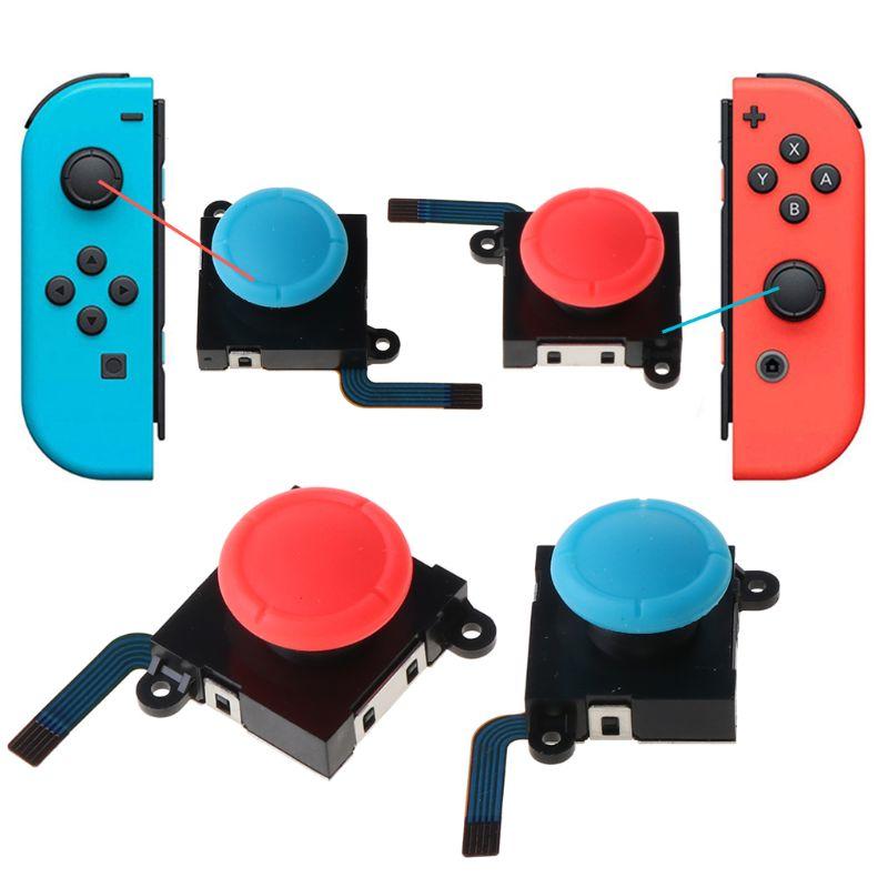 3D аналоговый джойстик для пальца палочки Сенсор замены Для Nintendo Switch Joy-Con для ремонта регулятора игровых аксессуаров для NX Joycon