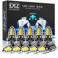 Светодиодные лампы DXZ T10 W5W, 10 шт., Canbus 168 194 6000K, белый свет для салона автомобиля, купольсветильник лампа для карты, парковочные огни, без ошибо...