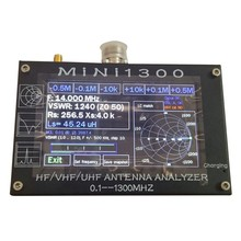 Mini1300 4.3 Inch Lcd Contact Screen Vhf Uhf Antenna Analyzer 0.1-1300Mhz Swr Frequency Counter(China)