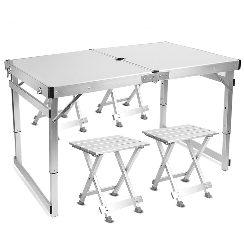 Superstable Outdoor Folding Table Folding Stall Folding Table Aluminum Alloy Table Home Outdoor Furniture Camping