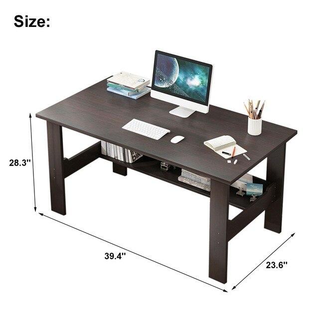 "40"" Computer Desk with Bookshelf 3"
