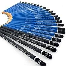 Staedtler מאדים Lumograph ציור עפרונות מגוון ציונים 100 G24 S אין קופסא פח