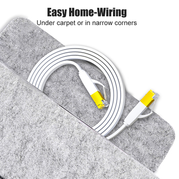 SAMZHE CAT6 Flat Ethernet Cable  1000Mbps 250MHz CAT 6 RJ45 Networking Patch Cord LAN for Computer Router Laptop 3