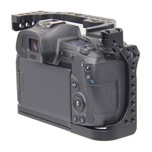 Image 3 - Protective Cover Camera Cage for Canon EOS R w/ Coldshoe 3/8 1/4 Thread Holes Arca Swiss Quick Release Plate Camera Accessories