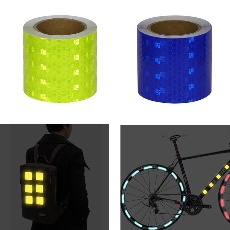 5cm*3m Car Safety Mark Warning Tape Reflective Strip Reflector Stickers Film For Car Bicycle Exterior Decoration Accessories