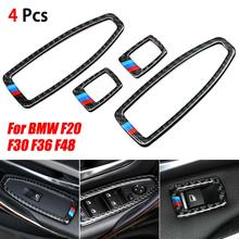 Car Door Window Switch Frame Trim Cover For BMW F20 F30 F34 F36 F48 1 3 4 Series Window Switch Contro Panel Cover