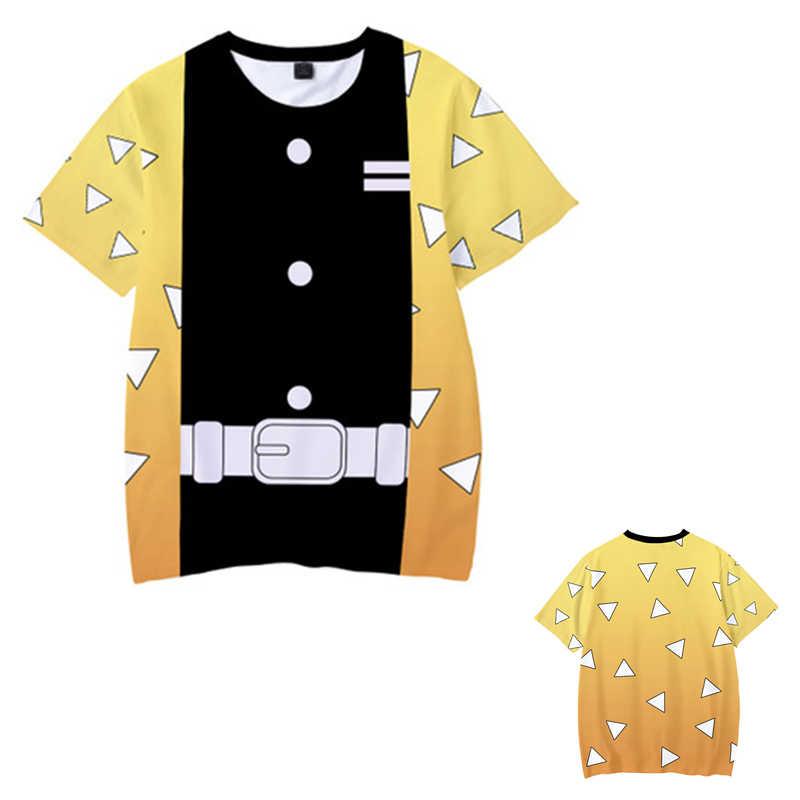 Bambini Ragazzi Devils killer T-Shirt 3d Stampa Cosplay Del Fantasma Giapponese lama di Estate Dei Bambini Del Manicotto Del Bicchierino Magliette Demone Slayer Vestiti