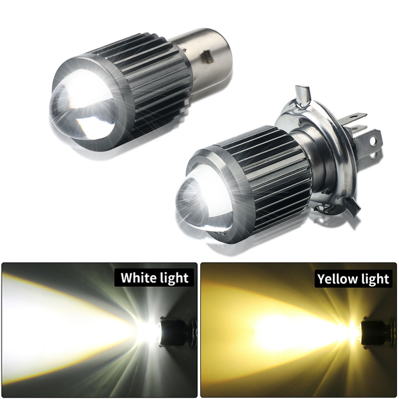 BA20D H4 LED Motorcycle Headlight Bulbs Hi Lo Beam Motorbike 3000K 6000K Scooter ATV Accessories Condensing Len Fog Lights White