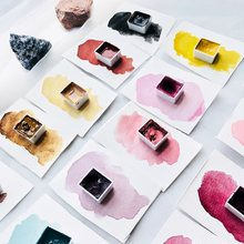 Handmade Grinding Minerals Solid Watercolor Pigment Single Piece Self-select Color Import Master Water color Paint Art Supplies