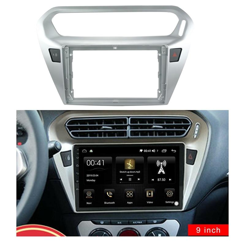 9 Inch 2Din Car Stereo Fascia Panel Frame DVD Panel Bezel Frame Installation Trim Kit Fit for PEUGEOT 301 Citroen SLYSEE