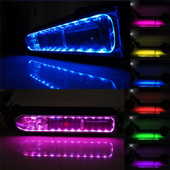 Bluetooth LED Strip Flashlight Bar Lamp For Xiaomi M365 Electric Scooter Skateboard Night Safety Light