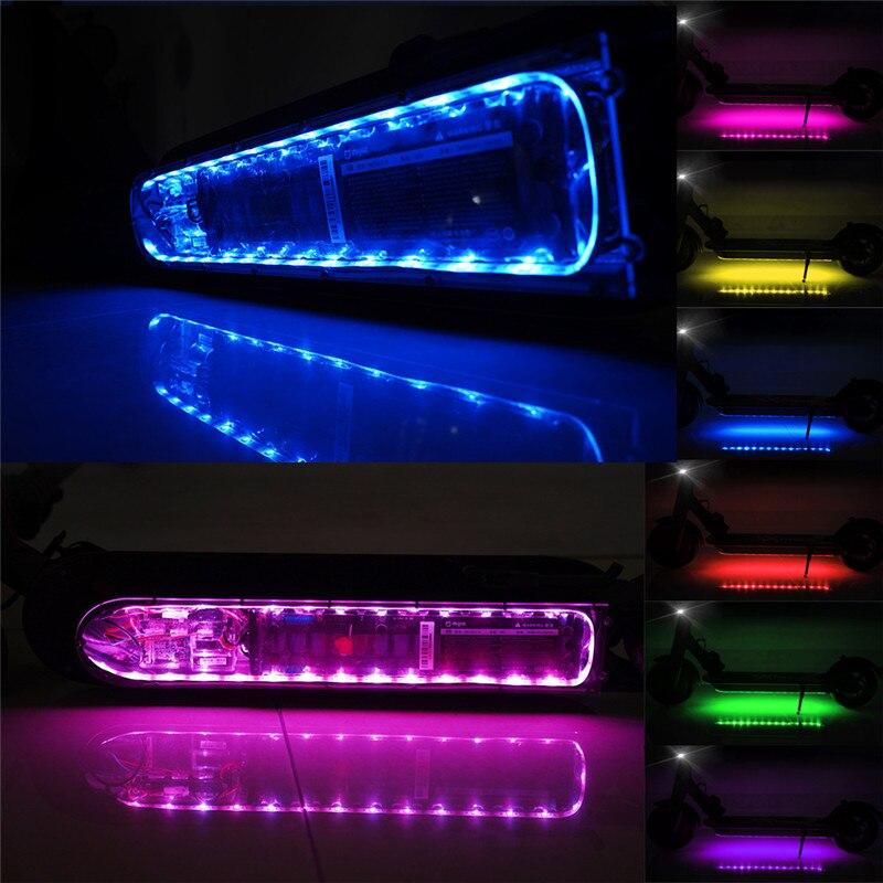 Barra para Xiaomi Luz de Segurança Bluetooth Tira Lanterna Lâmpada M365 Scooter Elétrico Skate Noite Led Mod. 313453