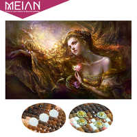 Meian Special Shaped Diamond Embroidery Beauty Lady 5D Diamond Painting Cross Stitch 3D Diamond Mosaic Full Drill Home Kits