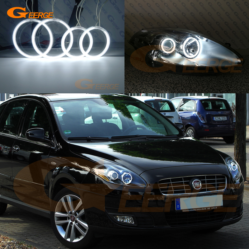 For Fiat Croma Facelift 2008 2009 2010 2011 Excellent Ultra Bright Illumination CCFL Angel Eyes Kit Halo Ring
