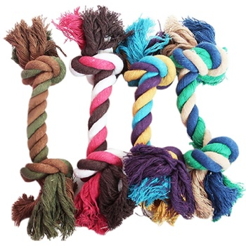 New Pet Supplies Puppy Dog Cotton Linen Braided Bone Rope Clean Molar Chew Knot Play Toy Large Small Dog Toys Pet Product image