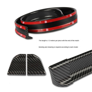 Image 2 - 1,5 M Auto Styling 5D Carbon Fiber Spoiler DIY Refit Spoiler Für Seat Ibiza Leon Toledo Arosa Alhambra Exeo supercopa Mii Altea