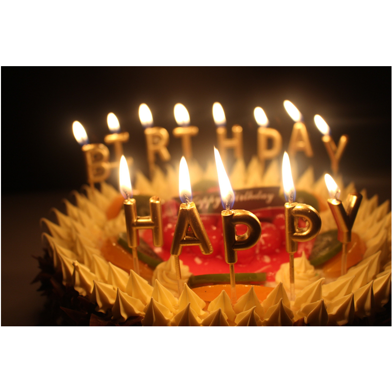 Stupendous Rose Gold Happy Birthday Candles Birthday Cake Decorations Happy Personalised Birthday Cards Paralily Jamesorg