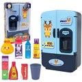 Детский игровой дом, игрушки, имитация холодильника, двойная дверь, развивающая детская маленькая бытовая техника, умный холодильник, игруш...