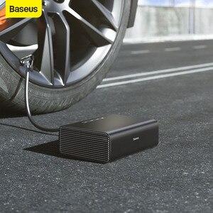 Baseus интеллектуальный насос 12 в автомобильный воздушный компрессор мини портативный Электрический автомобильный насос для шин компрессор ...