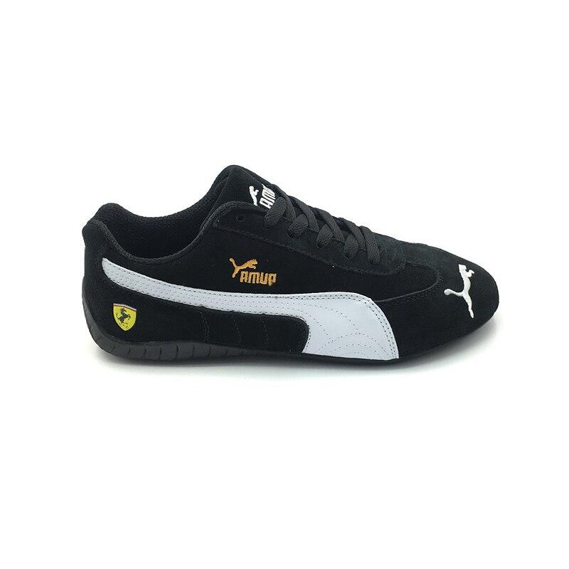 Summer Pumas Ferrarimotorcycle Women Shoes Racing Shoes Anti-fur Men's Sneaker Sports Classic Running Shoes Black