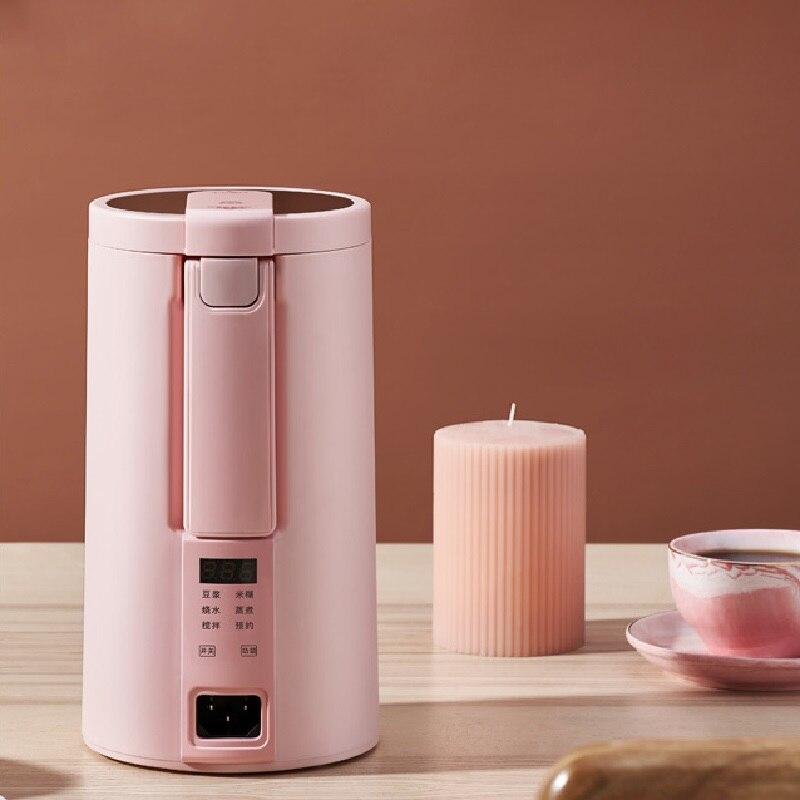 220V Mini Soymilk Machine Multicooker Automatic Heating Soya-Bean Milk Juicer Blender Rice Paste Maker Filter-free With Steamer