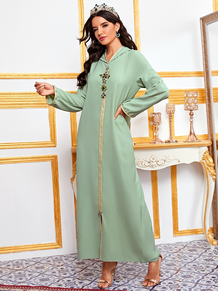 Hijab Dress Robe Islam-Clothing Ramadan Eid Abaya Musulman Turkey Muslim Dubai Djellaba Femme