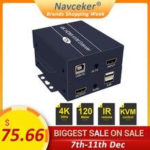2020 H.264 200m HDMI KVM Extender Over IP Network HDMI USB Extender Over RJ45 USB KVM Extender HDMI By Cat5e Cat6 For HDTV DVD