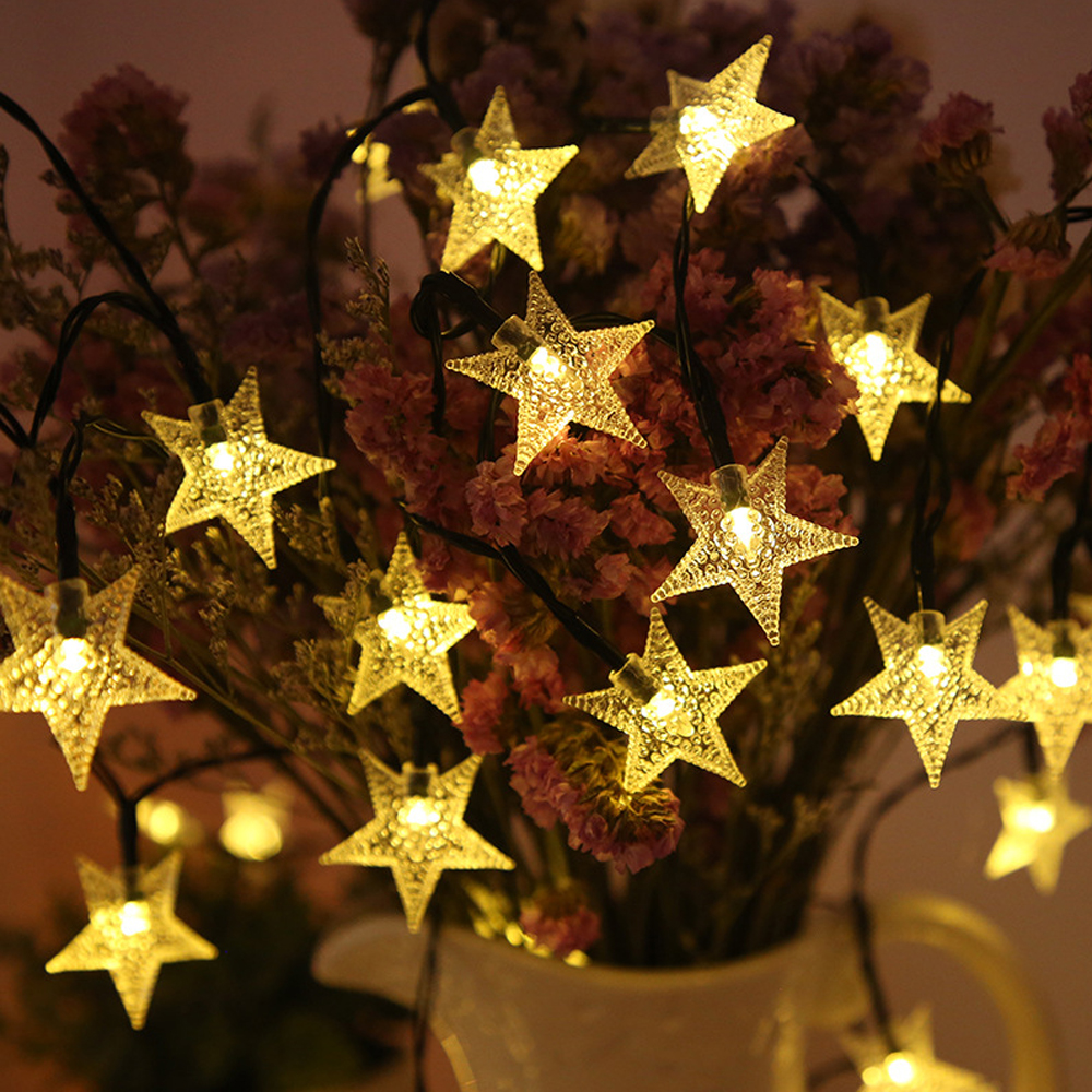 LED Solar Light 3M 6M 12M LED Star String Fairy Lights Battery /Solar Powered Led Garland Christmas Lamp for Outdoor Decoration