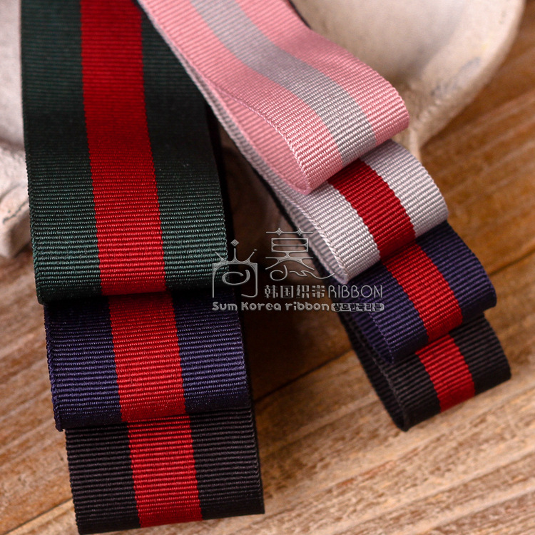 100yards 25mm 40mm stripes ribbon for garment apparel shoe hat fashion accessories gift packing package bow craft supplies in Ribbons from Home Garden