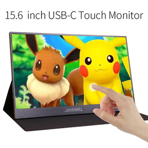 New 15.6 inch Touch Screen Portable Monitor PC with 2 Type-C USB-C Mini HDMI Port for PS3/PS4 Xbox 360 IPS Touch Gaming Monitor