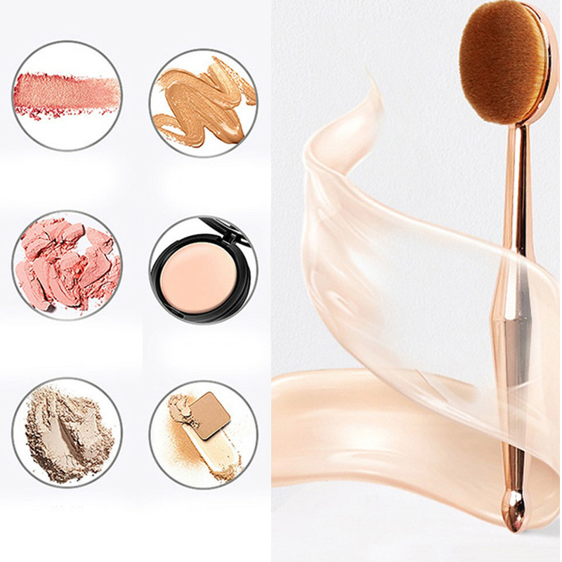 1pcs Makeup Makeup Brushes Toothbrush New Mermaid Makeup Brush Foundation Oval Brushes Make Up Brush Cosmetics Beauty Tools image