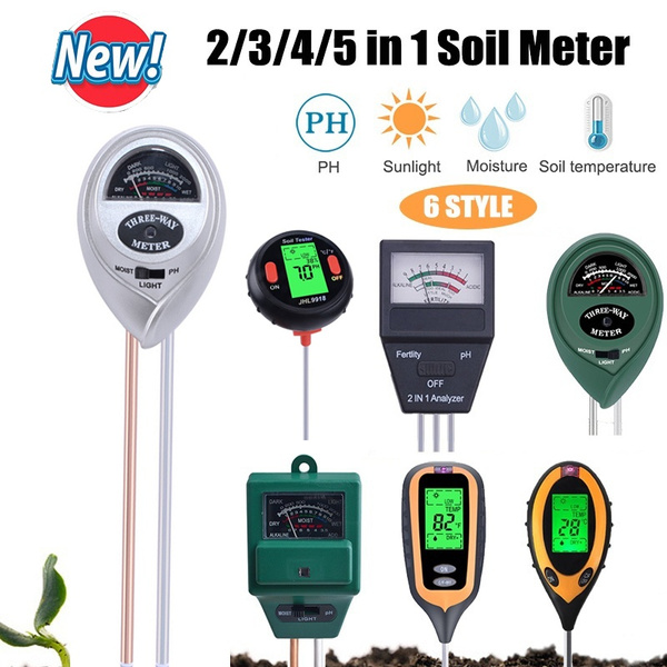 Ph solo tester monitor de umidade luz solar temp testadores acidez alcaloide ferramenta de teste jardim planta termômetro higrômetro